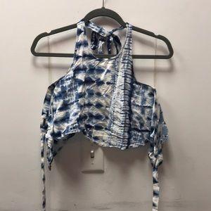 Billabong halter tie dye top